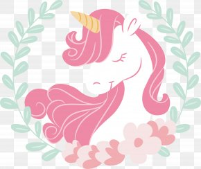 Pink Hair Unicorn - Unicorn Paper Drawing PNG
