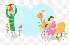 The Cartoon Illustrations Relax The Family And Enjoy Themselves - KB Insurance Co., Ltd. Pregnancy Clip Art PNG