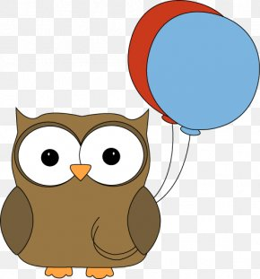 Balloon Animals Cliparts - Owl Party Birthday Clip Art PNG