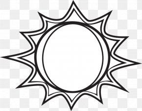 Black And White Sun - Black And White Free Content Clip Art PNG