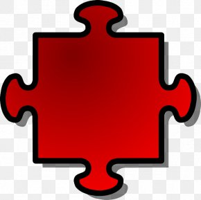 RED SHAPES - Jigsaw Puzzles Puzz 3D Clip Art PNG