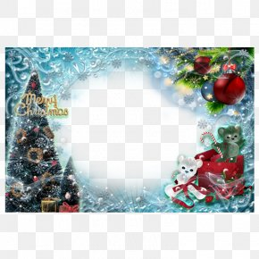 Christmas Frame - Christmas Tree Picture Frame PNG