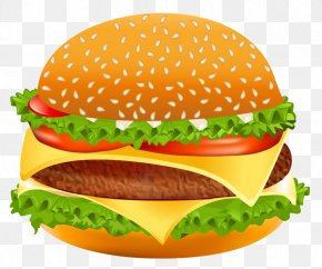 Hamburger Vector Clipart Image - Hamburger Cheeseburger Hot Dog Fast Food Clip Art PNG