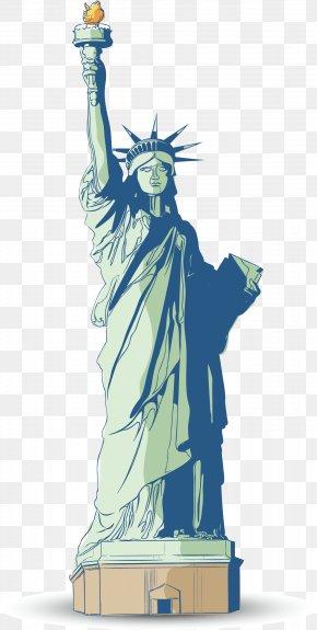 Vector Statue Of Liberty - Statue Of Liberty Clip Art PNG