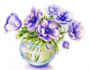 Flower Watercolor - Watercolor Painting Stock Photography PNG