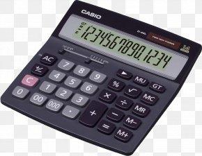 Black Calculator Image - Calculator Casio Adding Machine Battery Label Printer PNG