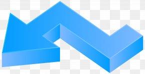 Blue Arrow Left Clip Art Image - Arrow Diagram Clip Art PNG