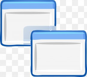Blue Square Edge - Graphical User Interface Window Clip Art PNG