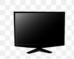 Black Computer Monitor - LCD Television LED-backlit LCD Computer Monitor Television Set Output Device PNG