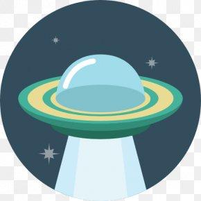 Ufo - Aqua Sphere Clip Art PNG