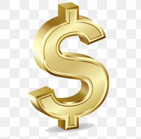 Gold Dollar Transparent - Dollar Sign Gold Currency Symbol Clip Art PNG