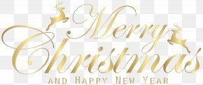 Merry Christmas Gold Transparent Clip Art Image - Christmas Party Clip Art PNG