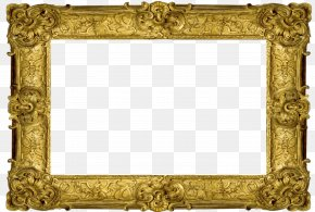 Gold Frame - Picture Frames Photography Decorative Arts Clip Art PNG