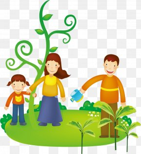 A Family Of Three - Happiness Family Illustration PNG