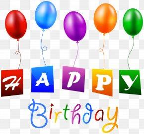 Happy Birthday - Birthday Balloon Clip Art PNG