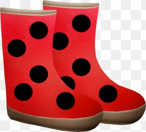 Cartoon Red Boots - Red Boot Shoe PNG