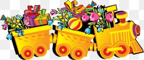 Vector Hand-painted Gift Small Truck - Birthday Cake Happy Birthday To You Greeting Card PNG