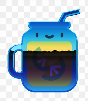 Electric Blue Drinkware - Summer Icon Iced Tea Icon Tropical Icon PNG
