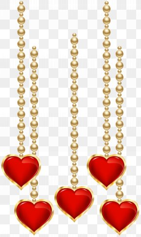 Hanging Decorative Hearts Clip Art - Laptop Clip Art PNG