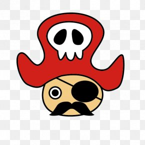 Cartoon Red Hat Pirates - Piracy Hat Download Clip Art PNG