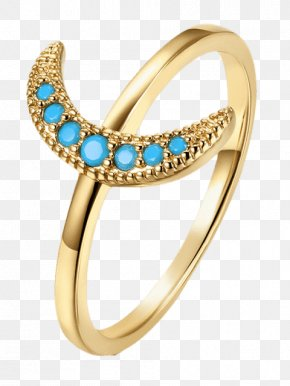 Ring Finger - Turquoise Ring Birthstone Gold Jewellery PNG