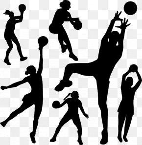 Girls Basketball Cartoon - Netball Basketball Sport Clip Art PNG