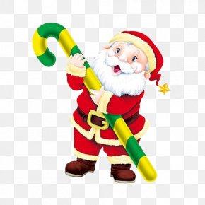 Free Santa Buckle Elements - Santa Claus Candy Cane Christmas Drawing Clip Art PNG