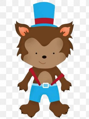 Cartoon Wolf Wearing Blue Suspenders - Big Bad Wolf Goldilocks And The Three Bears Little Red Riding Hood Gray Wolf Clip Art PNG
