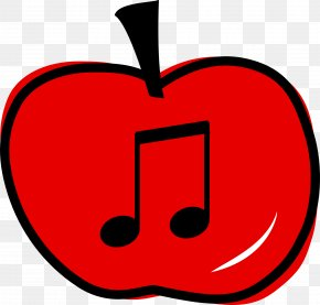 Apple Notes - Musical Note Apple Eighth Note Clip Art PNG