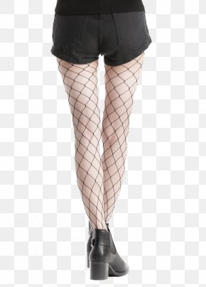 Dark Gray Shorts Fishing Net Socks High Heels - Fishing Net Sock High-heeled Footwear Shorts PNG