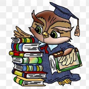 Professor - Owl Teacher School Cartoon Clip Art PNG