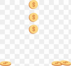Flat Gold Coin Picture - Gold Coin PNG