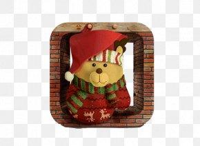 Bear Christmas Decoration - Bear Christmas Santa Claus Gift PNG