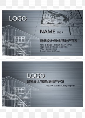 Architectural Design Business Card - Business Card Visiting Card PNG