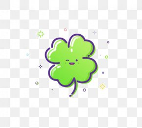 Flat Clover - Logo Icon Design Illustration PNG