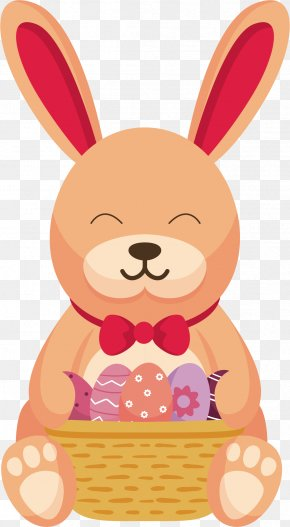 Basket Rabbit - Easter Bunny Euclidean Vector Rabbit PNG