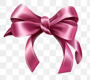 Pink Bow Clipart Picture - Ribbon Pink Clip Art PNG