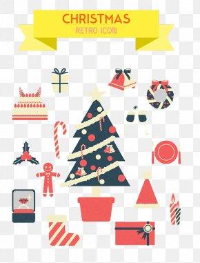 Christmas Cartoon Patterns - Santa Claus Christmas Gingerbread Man Clip Art PNG