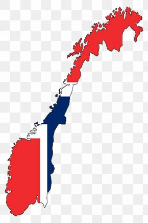 Map - Flag Of Norway Map National Flag PNG