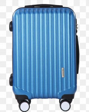 Emery Cloth Grain 24 Inch Blue Suitcase - Hand Luggage Blue Suitcase PNG
