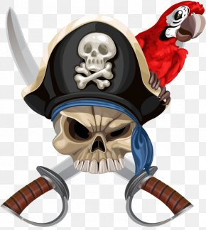 Pirate Flag - Parrot Piracy Hat Jolly Roger PNG