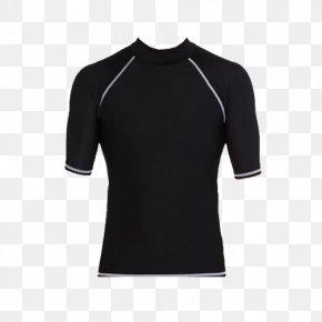 Black Men's Short Sleeve Winter Swimsuit - T-shirt Sleeve Armani Polo Shirt PNG