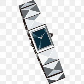 Silver Watches Pattern - Fashion Accessory Download Clip Art PNG