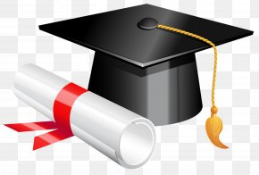 Graduation Cap And Diploma Clipart Picture - Graduation Ceremony Download School Clip Art PNG