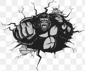 Creative Gorilla - Gorilla Ape King Kong Illustration PNG
