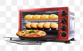 Red Oven - Oven Red Electric Stove Toaster PNG