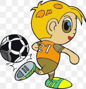 Cartoon Child Football - 2018 Winter Olympics 2018 FIFA World Cup Pyeongchang County China PR National Football Team PNG