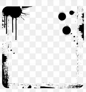 Vector Black Ink Dots Graffiti Border - Ink Black Computer File PNG
