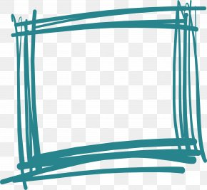 Handdessed Graffiti Rectangle Border - Rectangle PNG