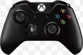Xbox - Black Xbox One Controller Xbox 360 Game Controllers PNG